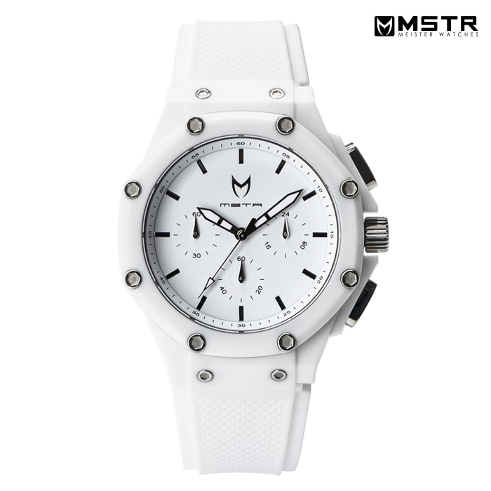 【送料無料】MSTR WATCHES AMBASSADOR X【WHITE/WHITE/RUBBER BAND】【AX107RB】(通販 メンズ 腕時計 ホワイト 白 ラバーバンド MEISTER ウォッチ)