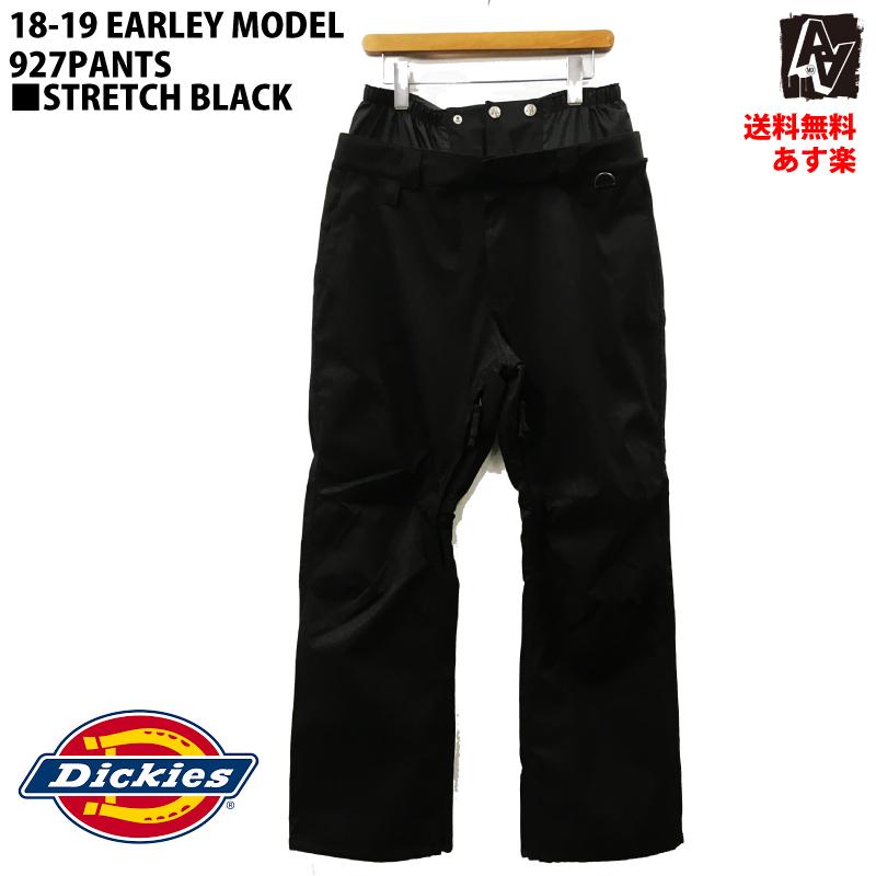 AA ダブルエー アーリーモデル 927PANTS ディッキーズ 927パンツ メンズ 18-19 スキー スノーボード ウェア ストレッチ パンツ Dickies 黒 Lサイズ