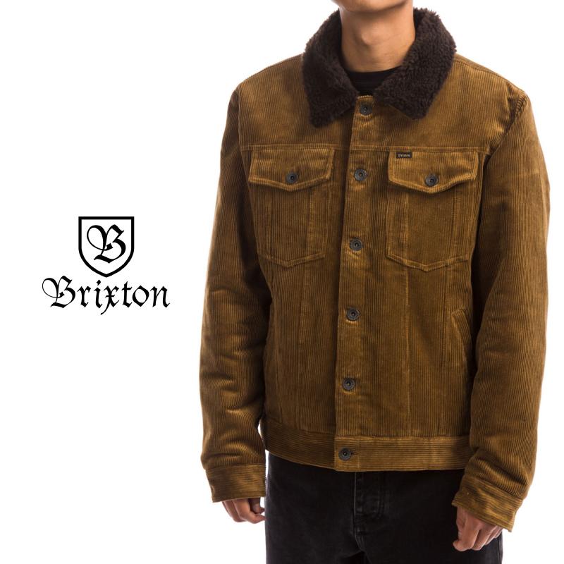 Brixton ブリクストン Cable Sherpa Jacket メンズ ジャケット アウター キルティング BRASS Lサイズ