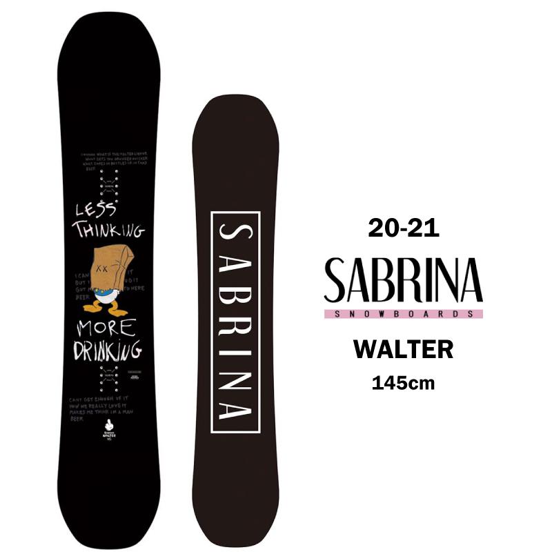 SABRINA サブリナ WALTER ウォルター レディース 20-21 スノーボード 板 キャンバー ハイブリットキャンバー グラトリ 145cm