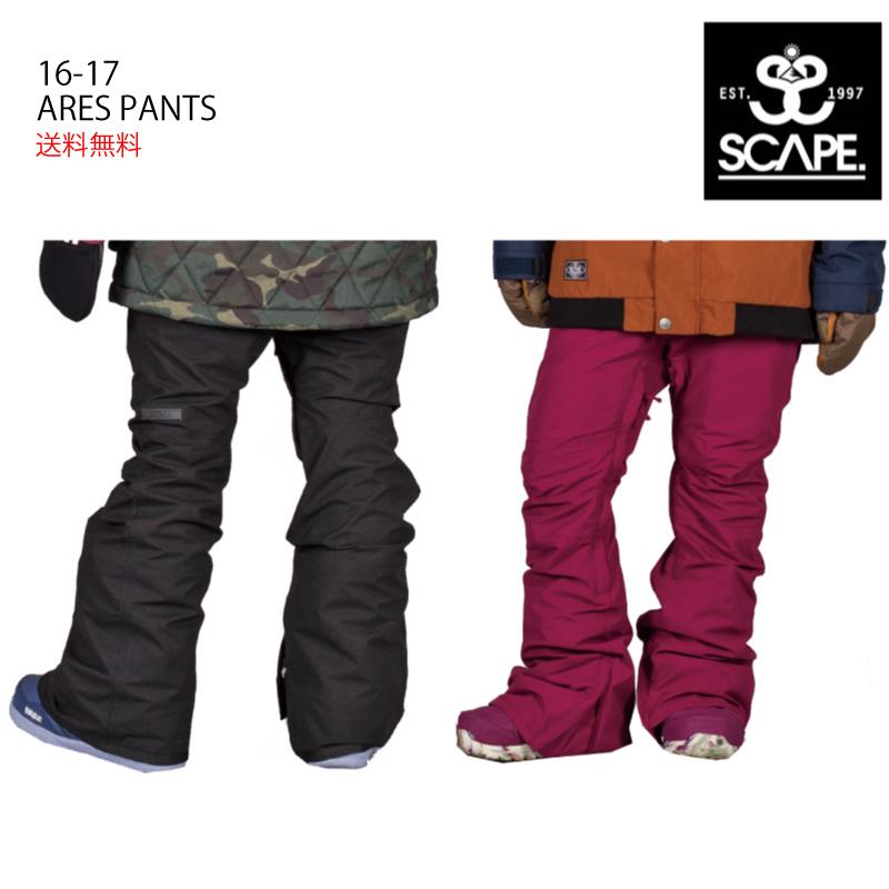 SCAPE エスケープ ARES PANTS アレスパンツ 16-17 スノーボード ウエア パンツ レディース 細身