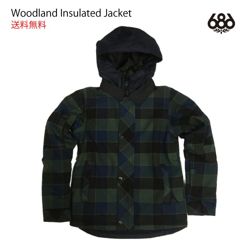 686 SIX EIGHT SIX シックスエイトシックス Woodland Insulated Jacket スノーボード スキー ウェア ジャケット 17-18 キッズ 子供 ジュニア ユース YOUTH