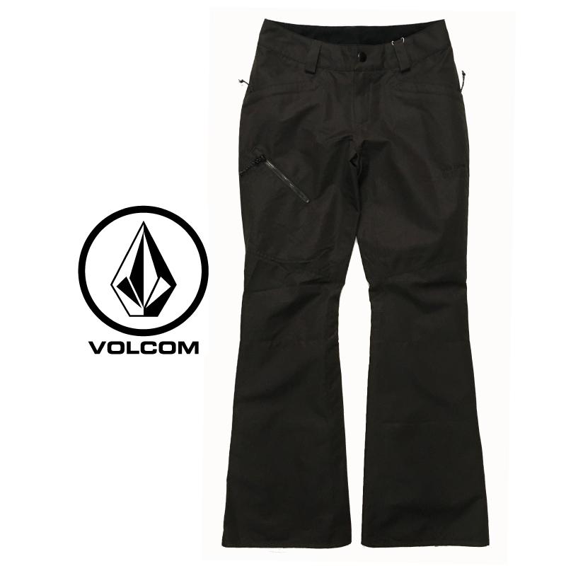 VOLCOM ボルコム HALLEN PANTS レディース 19-20 スキー スノーボード ウェア パンツ スリム 細身 黒 VINTAGE BLACK XSサイズ