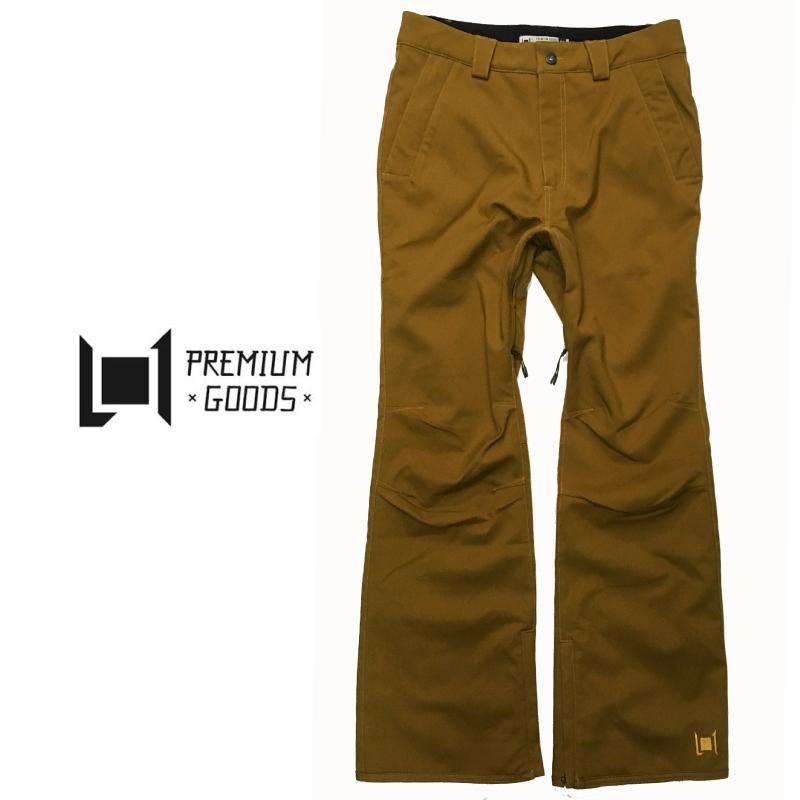 L1 エルワン SLIM CHINO PANTS メンズ 19-20 スキー スノーボード ウェア チノ パンツ 細身 スリム ストレッチ TOBACCO Mサイズ