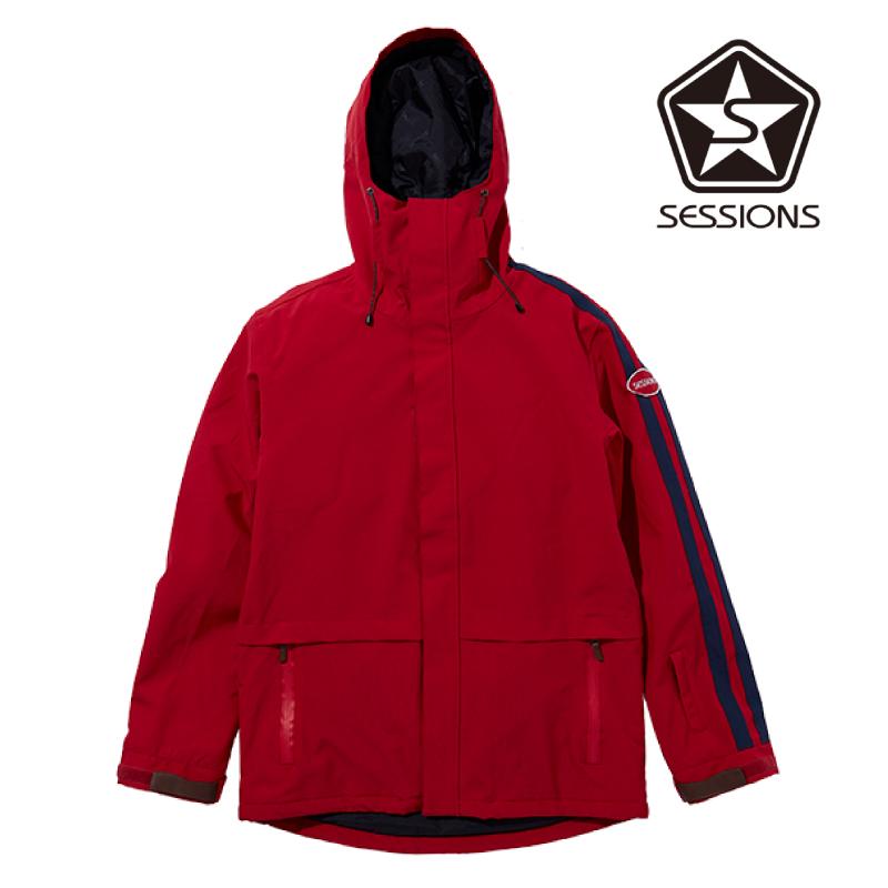 SESSIONS セッションズ SCOUT JACKET メンズ 19-20 スキー スノーボード ウェア ジャケット DEEP RED Mサイズ
