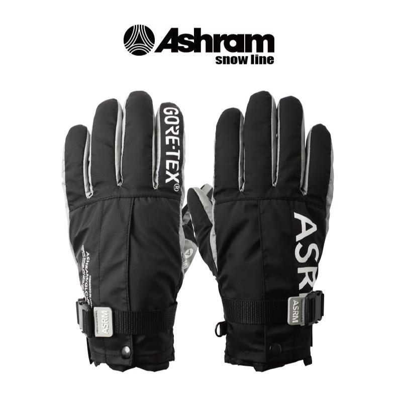 Ashram アシュラム M.O.L.L.E FINGER 19-20 スキー スノーボード 手袋 グローブ 5本指 GORE-TEX ゴアテックス BLACK Mサイズ