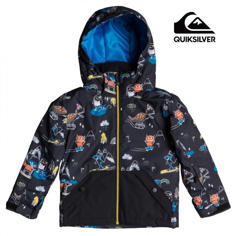 QUIKSILVER クイックシルバー 10K LITTLE MISSION KIDS JK MODERN FIT キッズ 子供 ジュニア 19-20 スキー スノーボード ウェア ジャケット Black KVM6 110cm