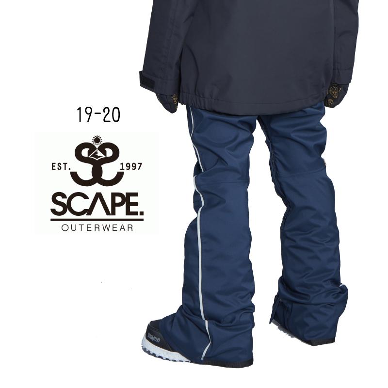 SCAPE エスケープ W's CELES PANTS レディース 19-20 スノーボード スキー ウェア パンツ NAVY WHITE Sサイズ