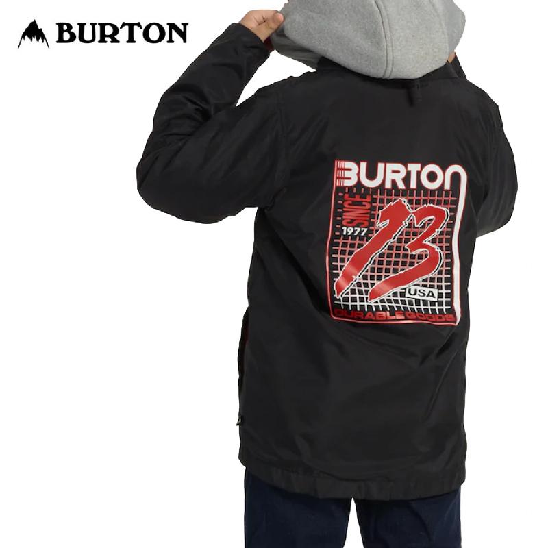 BURTON バートン Kids Ripton Coaches System Jacket 19-20 キッズ 子供 ウェア ジャケット コーチ True Black / Gray Heather Sサイズ
