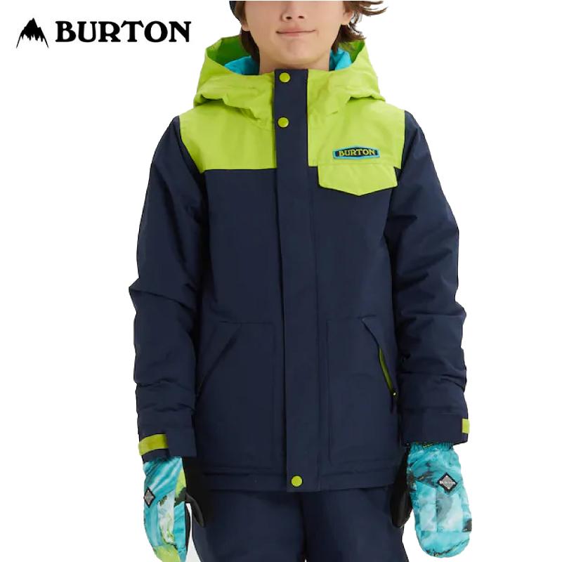 BURTON バートン Boys Dugout Jacket 19-20 キッズ 子供 ウェア ジャケット Dress Blue / Tender Shoots Sサイズ