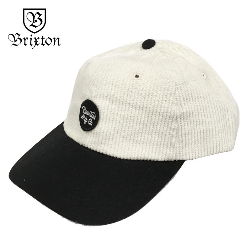 BRIXTON ブリクストン Wheeler Cap スケート キャップ 帽子 アジャスター ローキャップ コーデュロイ 白 IVORY/BLACK