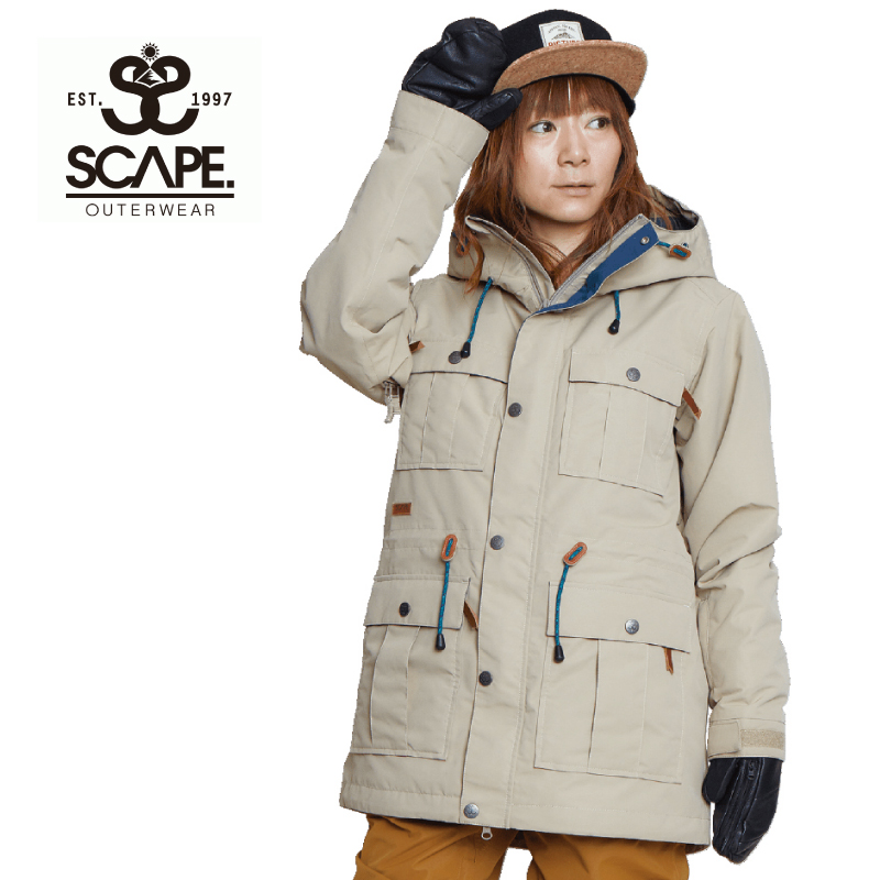 SCAPE エスケープ ATRAS JACKET アトラス ジャケット レディース 20-21 スキー スノーボード ウェア ジャケット CREAM Sサイズ
