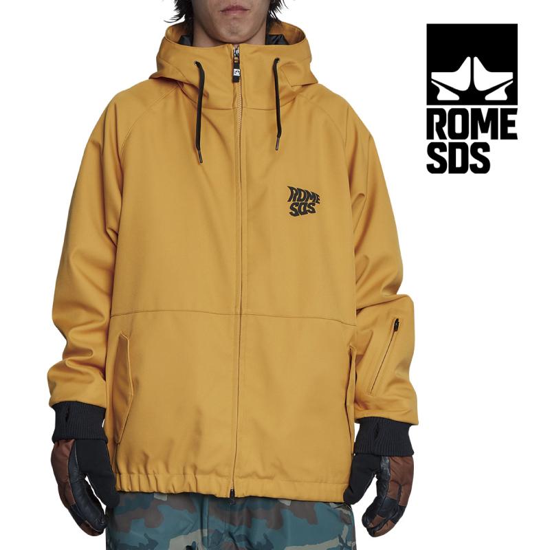ROME SDS ローム エスディーエス SDS JACKET エスディーエス ジャケット メンズ 20-21 スキー スノーボード ウェア ジャケット ソフトシェル パーカー GOLD YELLOW Mサイズ