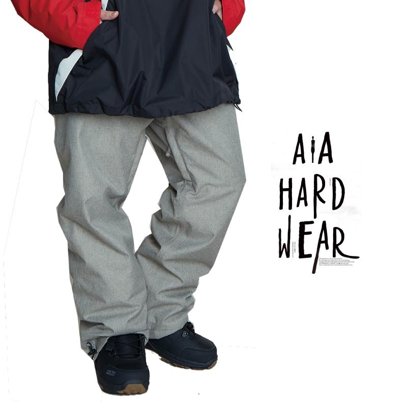AA HEADWEAR ダブルエー TEAM PANTS チームパンツ メンズ 20-21 スキー スノーボード ウェア パンツ HEATHER/GRAY Lサイズ