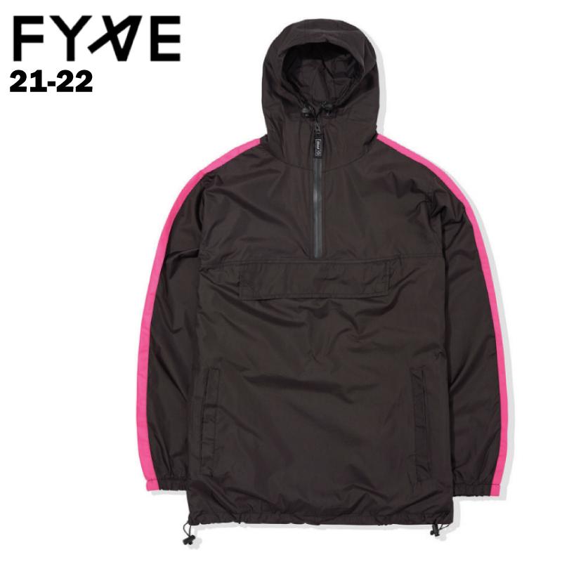 【予約商品】送料無料 正規品 FYVE ファイブ Stripe Spray Jacket ストライプスプレイジャケット メンズ レディース ユニセックス 21-22 スノーボード ウェア ジャケット Black×Pink Sサイズ