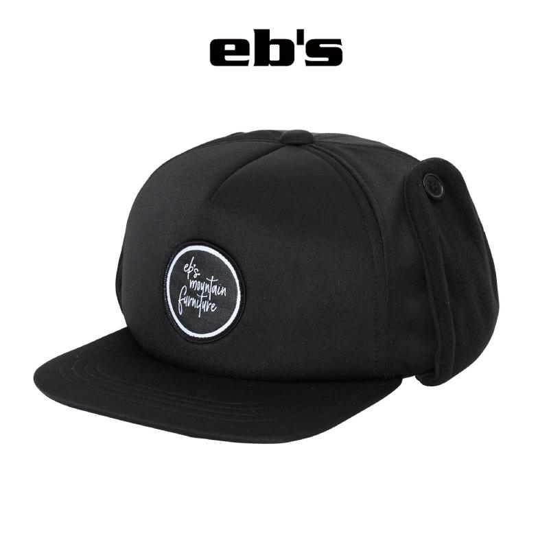 予約商品 正規品 eb's エビス SNOW CAP スノー キャップ 新着セール 男女兼用 帽子 BLACK 21-22 スキー スノーボード #4100401 耳当て
