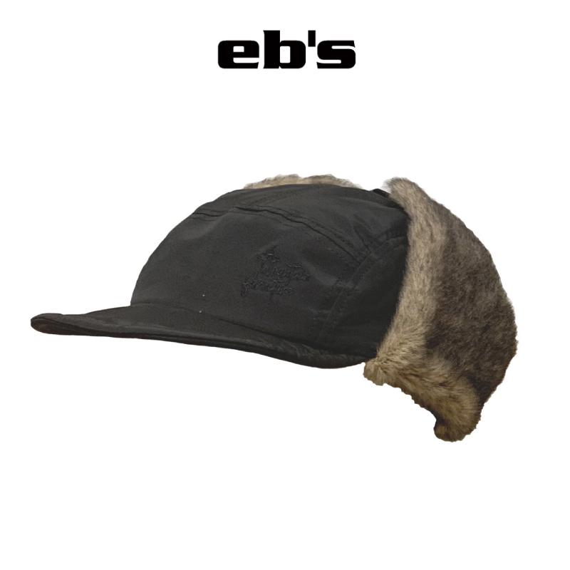 予約商品 正規品 eb's セール開催中最短即日発送 販売 エビス FUR CAP ファー キャップ #4100402 21-22 スキー BLACK 帽子 スノーボード 耳当て