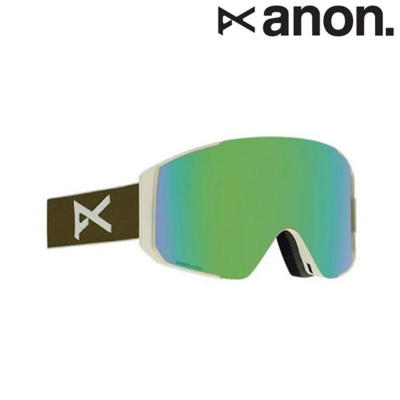 anon アノン Sync Goggle メンズ レディース 19-20 スノーボード スキー ゴーグル 円柱 Frame/Olive Lens/SONAR Green