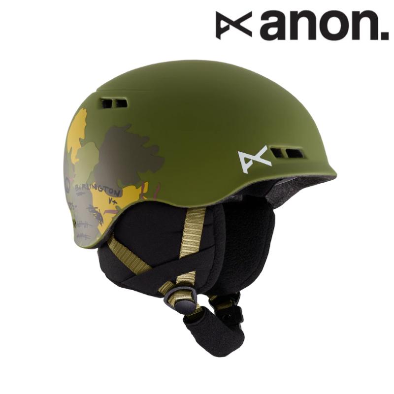 anon アノン Kids' Anon Burner Helmet バーナー ヘルメット キッズ 子供 19-20 スノーボード スキー ヘルメット Camo L/XLサイズ