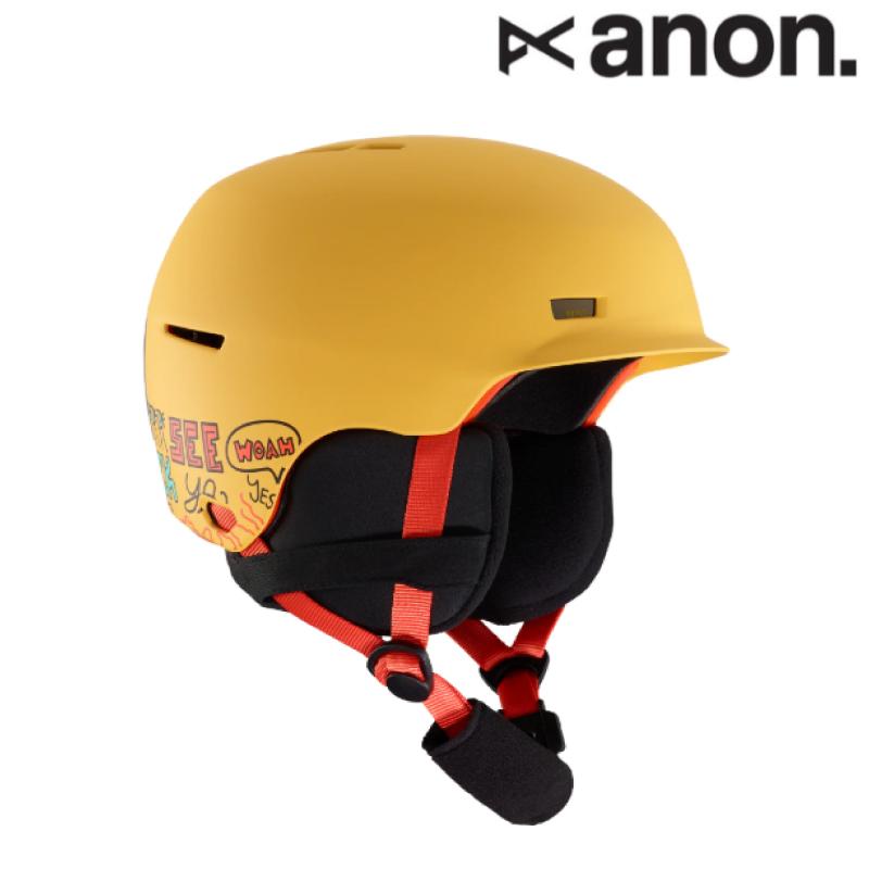 anon アノン Kids' Anon Flash Helmet ヘルメット キッズ 19-20 スノーボード スキー ヘルメット Pizza Yellow S/Mサイズ L/XLサイズ