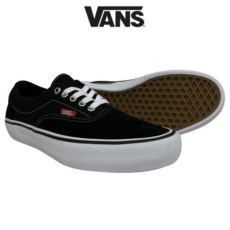 VANS バンズ ERA PRO エラ プロ メンズ レディース スニーカー シューズ 靴 スケシュー BLACK/WHITE/GUM 27cm VN000VFB9X1