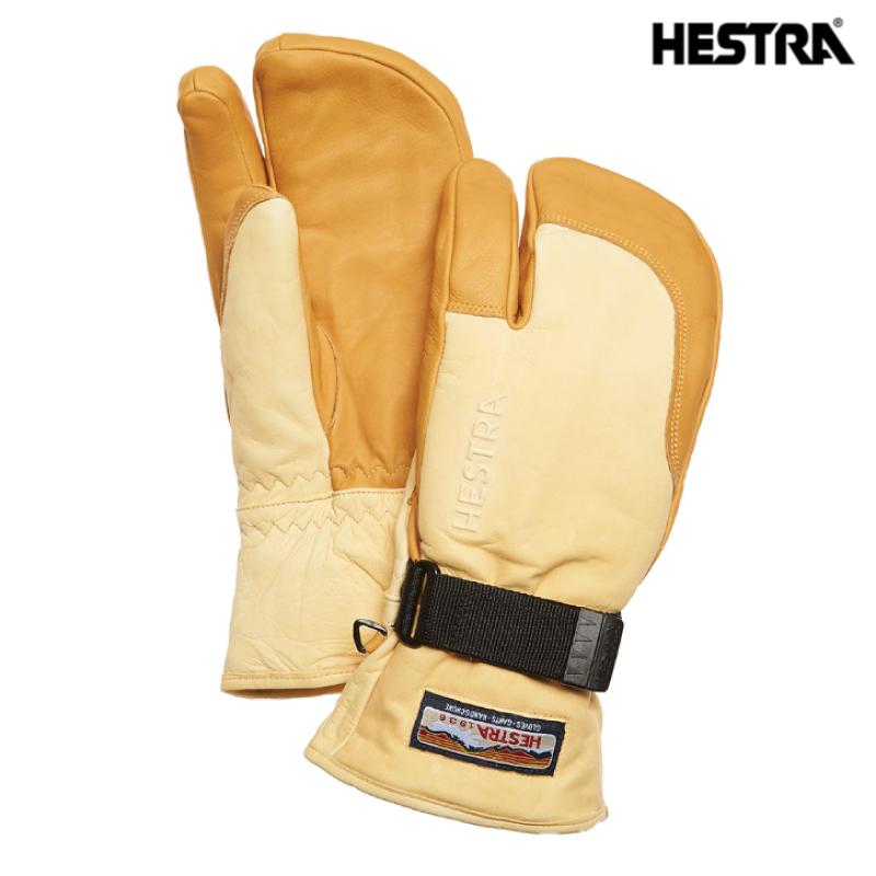 HESTRA ヘストラ 30872 3-Finger Full Leather スリーフィンガー フル レザー メンズ レディース 19-20 スキー スノーボード 手袋 グローブ 革 レザー トリガー ミトン Natural Brown/Tan 6サイズ