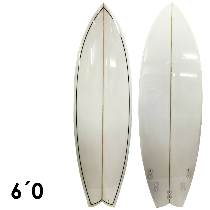 NO LOGO ノーロゴSHORT 6'0 サーフボード ショートボード サーフィン EPS ピンライン フィン付属