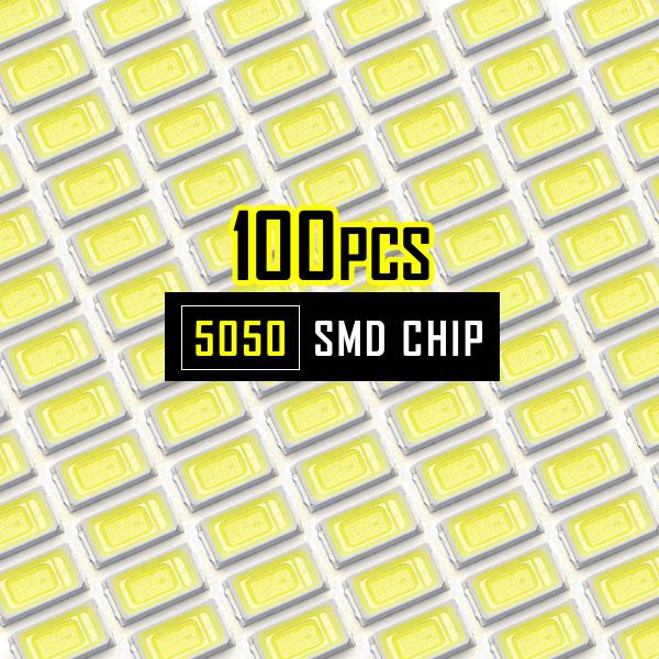 エアコン メーターパネルやスイッチLEDの補修 打ち替えに打替え LED交換 補修 手作り チップLED LEDチップ SMD 5730 打ち替え ホワイト 流行のアイテム 100個 スイッチ エアコンパネル DIY 白発光 打ち換え 自作 メーターパネル おトク