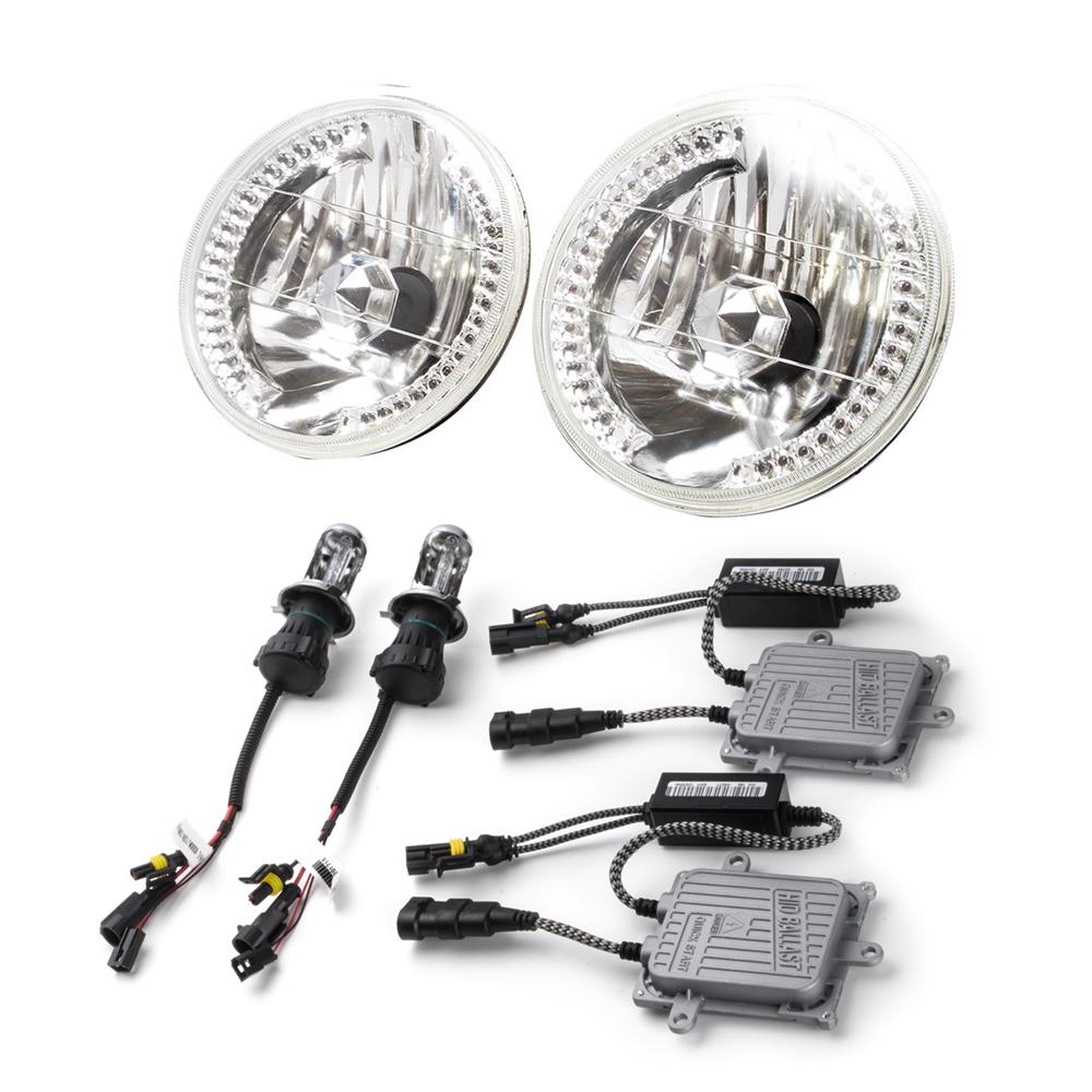 JA11 ジムニー [H2.2-H7.10] 36発LED搭載 7インチヘッドライト 2個 HID付属