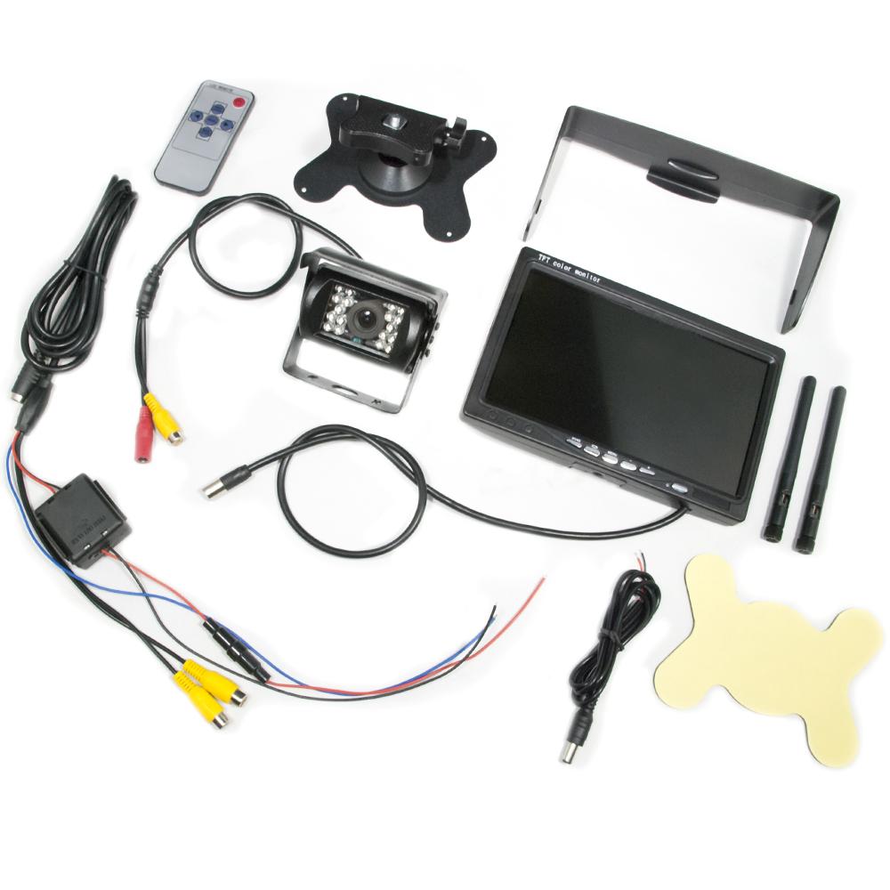 UDトラックス コンドル 12V/24V兼用 7インチ オンダッシュ ワイヤレス バックカメラ