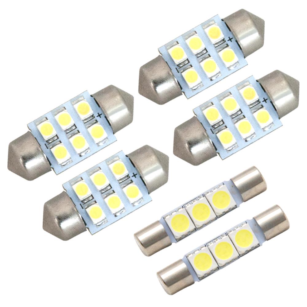 交換だけの簡単取付 ホワイト発光で車内を明るく照らす LED SMD ルームランプセット 簡単 誕生日プレゼント 交換 極LEDルームランプ アウトランダー 8W 毎日がバーゲンセール H25.1- GF7 6点セット 純正球交換型
