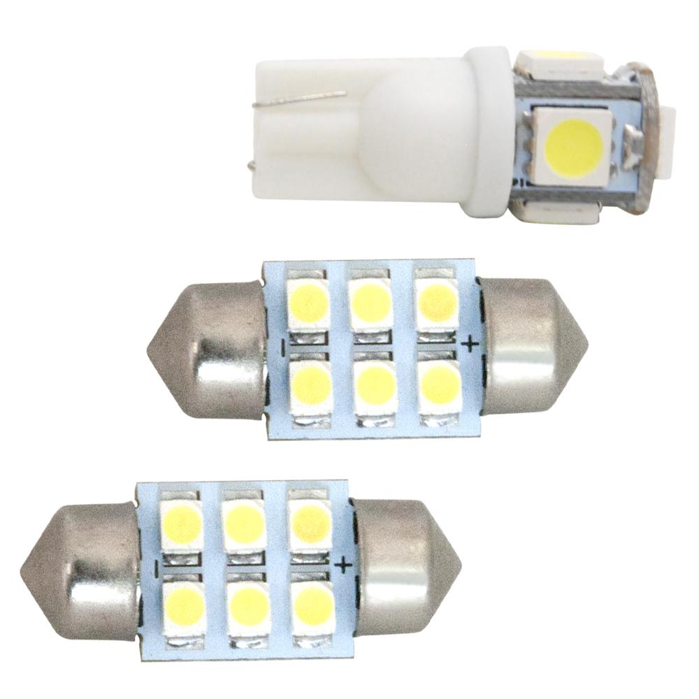 交換だけの簡単取付!ホワイト発光で車内を明るく照らす!LED SMD ルームランプセット 簡単 交換 MK53S スペーシアギア [H30.12-] 純正球交換型 極LEDルームランプ 【3点セット】