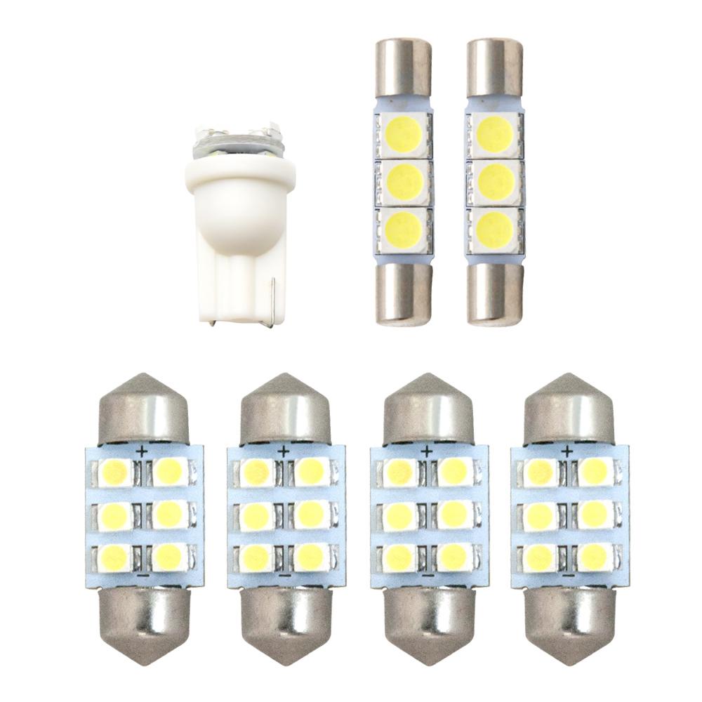 交換だけの簡単取付 ホワイト発光で車内を明るく照らす LED SMD ルームランプセット 簡単 交換 H26.6- 極LEDルームランプ 国内送料無料 純正球交換型 VM系 奉呈 レヴォーグ 7点セット