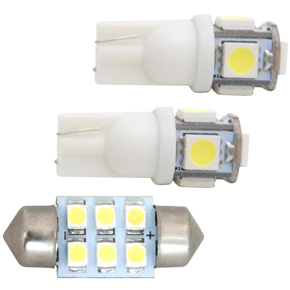 交換だけの簡単取付!ホワイト発光で車内を明るく照らす!LED SMD ルームランプセット 簡単 交換 100系 ラクティス [H17.9-H22.10] 純正球交換型 極LEDルームランプ 【3点セット】