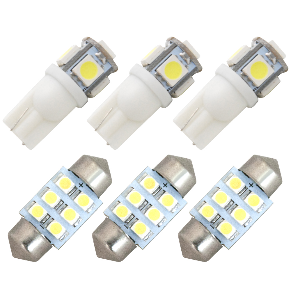 交換だけの簡単取付 ホワイト発光で車内を明るく照らす LED SMD 25%OFF ルームランプセット 簡単 交換 6点セット オーバーのアイテム取扱☆ C26 H25.12-H28.7 極LEDルームランプ セレナ後期 純正球交換型