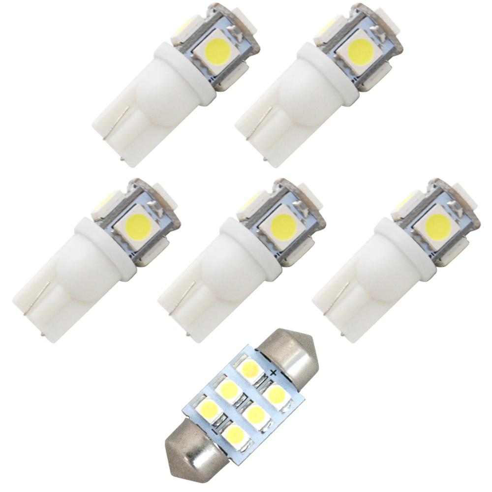 交換だけの簡単取付 ホワイト発光で車内を明るく照らす LED SMD 好評 ルームランプセット 簡単 交換 L150 H14.10-H18.9 ムーブ 2020春夏新作 6点セット ムーヴカスタム 純正球交換型 160 極LEDルームランプ