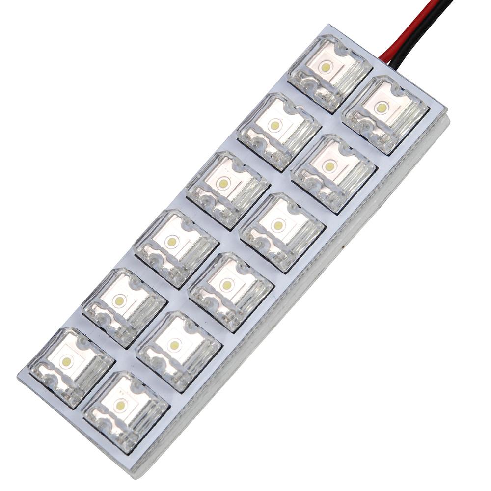 ポイント消化にもオススメ 高品質 LED 高級品 簡単取付 交換 ルームランプ 基板 2×6 FLUX12連 12V ホワイト