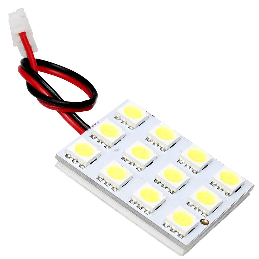 ポイント消化にもオススメ LED 簡単取付 交換 ルームランプ 12V 基板 限定品 訳ありセール 格安 総発光数36発 3×4 SMD12連 ホワイト