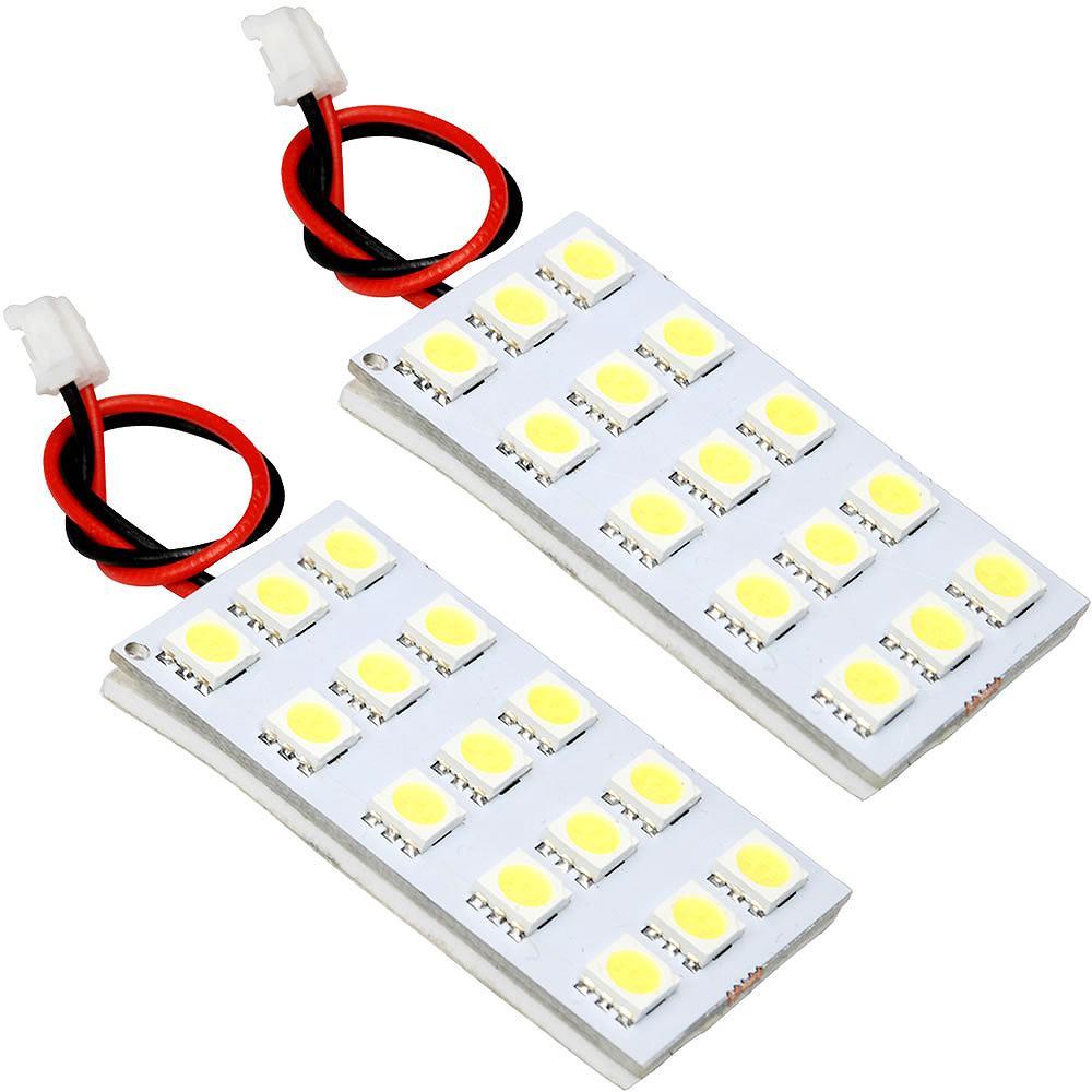 簡単取付 白光LEDで車内をドレスアップ LEDルームランプ 3チップ 3chip SMD 鬼爆閃光 H24.8- ノート 超目玉 お買い得 E12 2点セット 総発光数90発