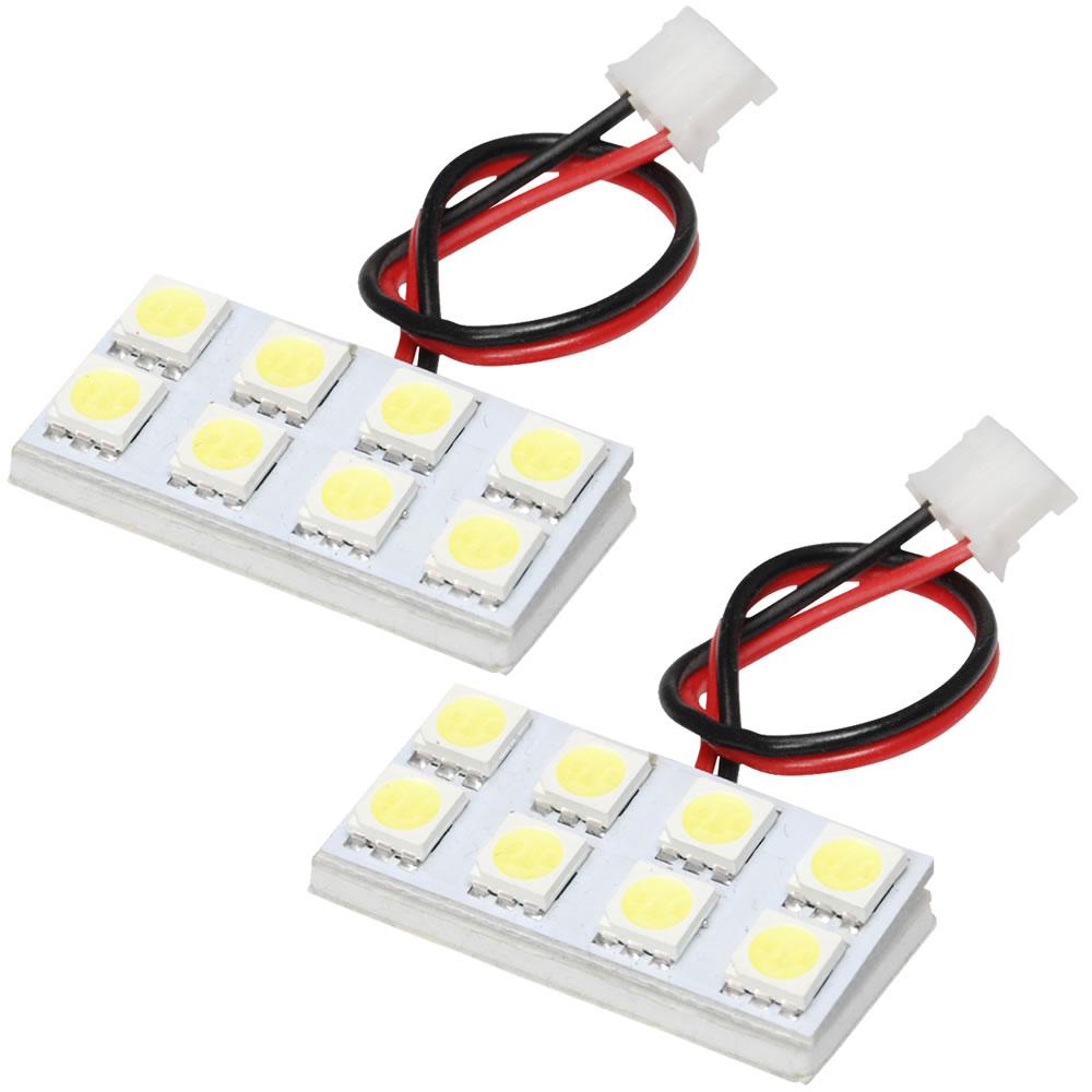 即納送料無料 簡単取付 白光LEDで車内をドレスアップ LEDルームランプ 3チップ 3chip SMD TV系 新色追加 総発光数48発 サンバー 2点セット H11.2-H24.4 鬼爆閃光