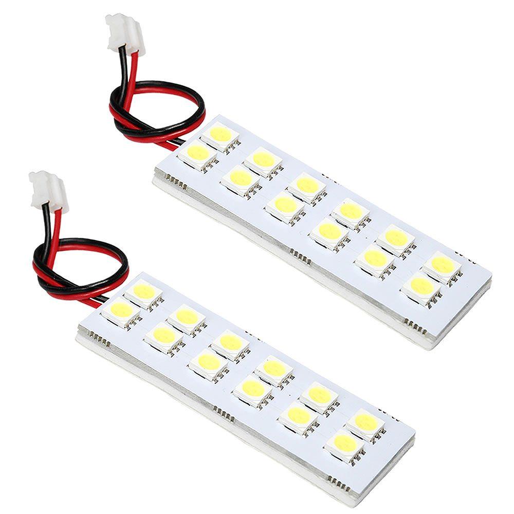 簡単取付 白光LEDで車内をドレスアップ ショッピング LEDルームランプ 3チップ 3chip SMD お気に入 総発光数72発 H27.1- 鬼爆閃光 エブリイバン 2点セット DA17V エブリィ エブリー