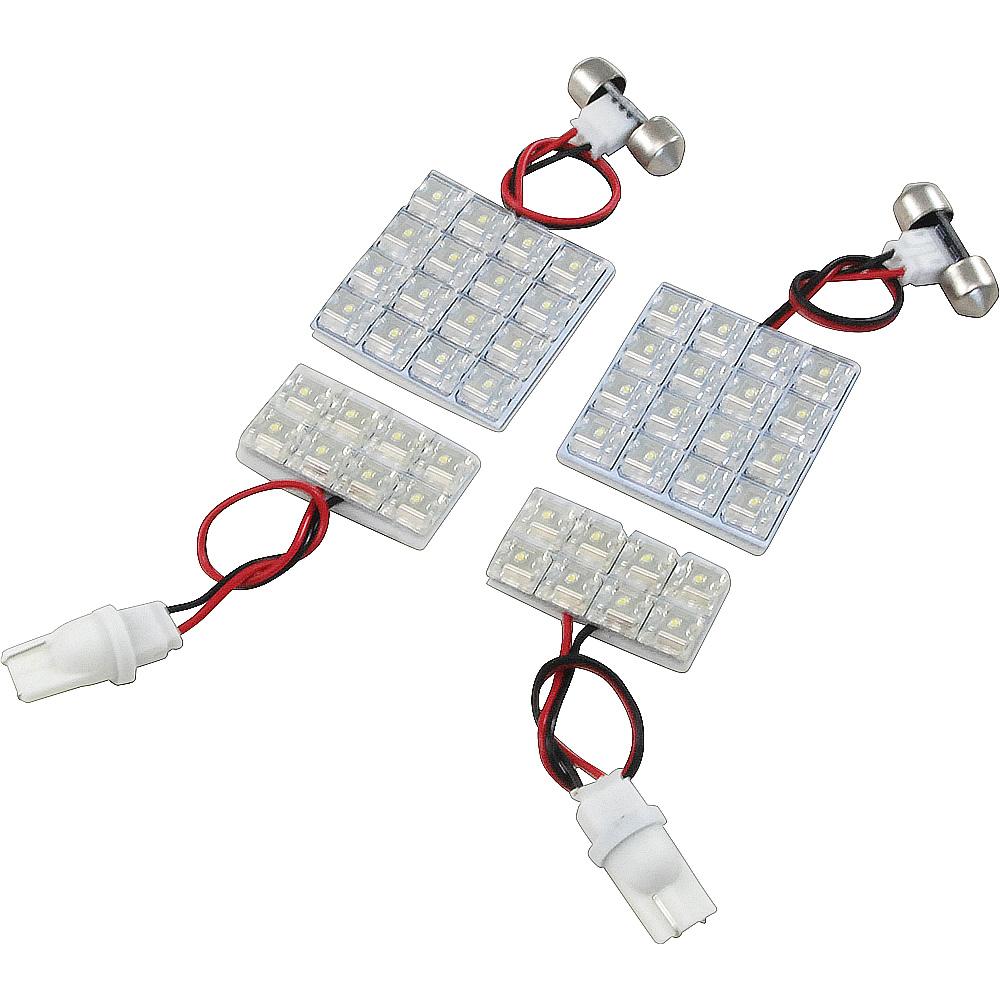 交換だけの簡単取付 LEDで車内を明るく照らす LED ルームランプセット 車内灯 選択 即納送料無料! 簡単 RIDER0369 ミラ 48発 L275 LEDルームランプ H18.12- 4点 285S RIDE