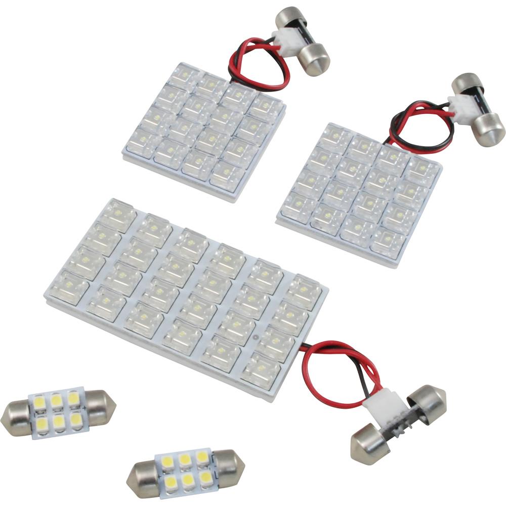交換だけの簡単取付 LEDで車内を明るく照らす LED ルームランプセット 車内灯 店内全品対象 簡単 定価 RIDER0782 エクストレイル RIDE T31 サンルーフ無し車 5点 H19.8-H20.8 LEDルームランプ 68発