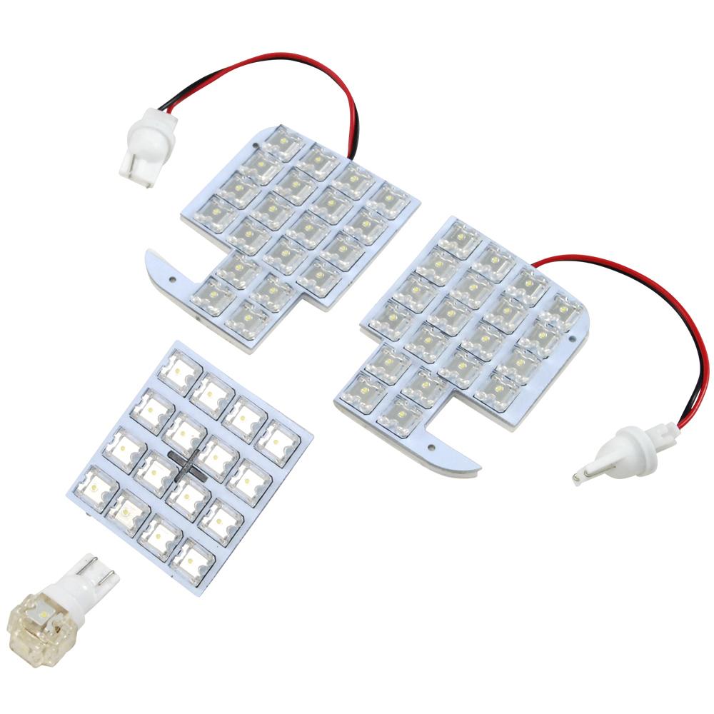 交換だけの簡単取付 LEDで車内を明るく照らす LED ルームランプセット 車内灯 簡単 RIDER1226 専用基板 ショップ 61発 LA600 RIDE H25.10-R1.6 希少 LEDルームランプ 4点 610S タント