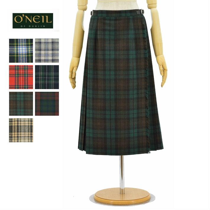 オニールオブダブリン 5073 キルトスカート 巻きスカート ラップスカート ウールミックス レディース O'NEIL OF DUBLIN WRAP KILT SKIRT