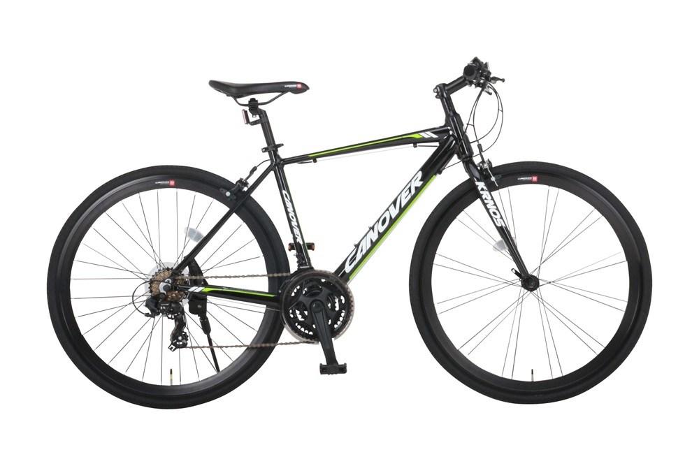 サイドスタンド LEDフロントライト付 クロスバイク 自転車 700C シマノ21段変速 軽量 アルミ CANOVER カノーバー CAC-028 KRNOS CAC-028-CC KRNOS (クロノス)