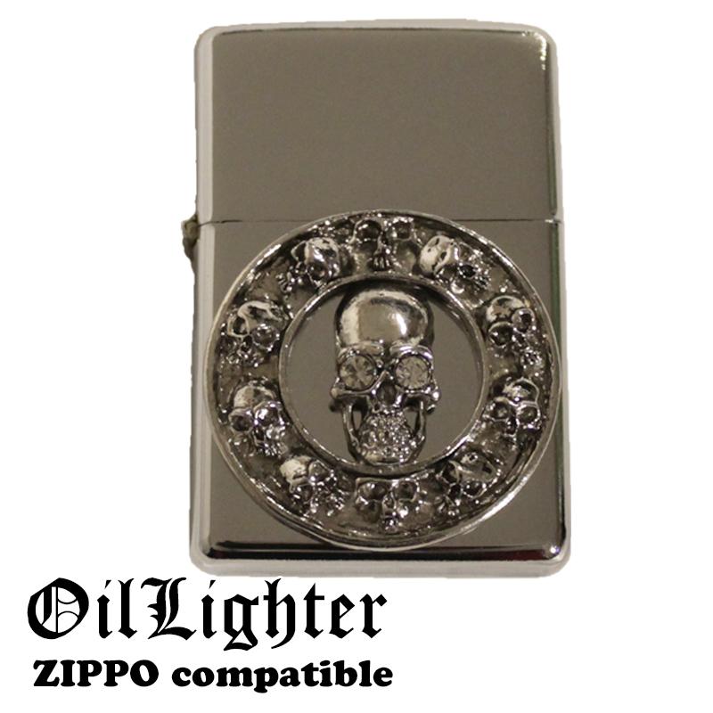 プレゼントギフトに人気のデザインライター スカル SKULL ドクロ メタルジャケット 国内在庫 販売実績No.1 オイルライター ジッポー用外装ケース ジッポ 互換商品 ZIPPO zippo ケース ジッポー