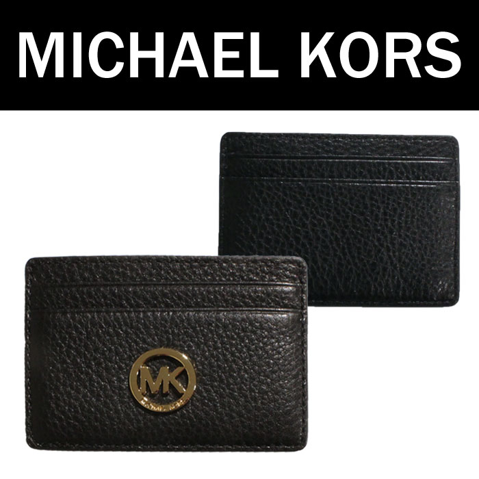 b51cd9cf8a60 MICHAEL KORS Michael Kors leather MK logo business card put the card case card  holder case ...
