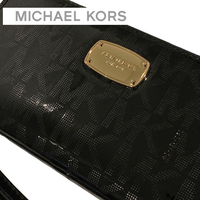 db11992d7855a Michael Kors MICHAEL KORS wallets purse shopping bag 35S6MJSZ7Z BLACK black  passport holds MK SIGNATURE leather TRAVEL CONTINENTAL