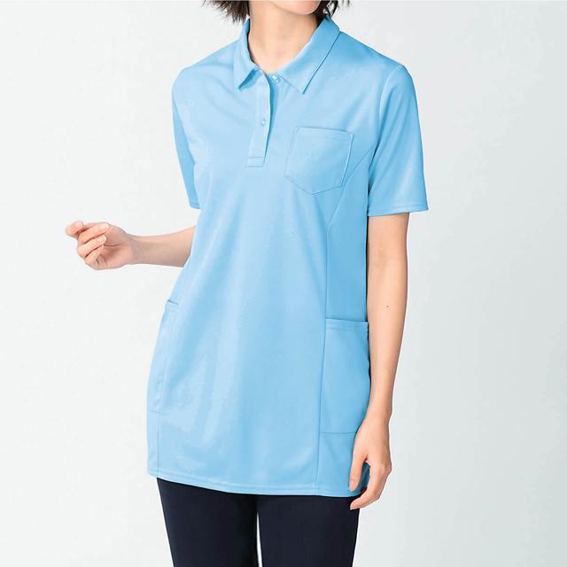 チームに洗い替えにうれしいプチプラポロシャツ レディスきれいラインポロシャツ お買い得 医療 ナース 看護 介護 白衣 女性 即納 ウエア アンファミエ infirmiere 9174148 298551